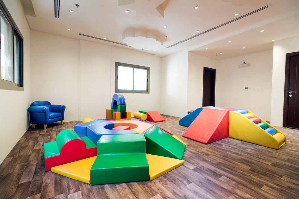 kids play area in rental apartment